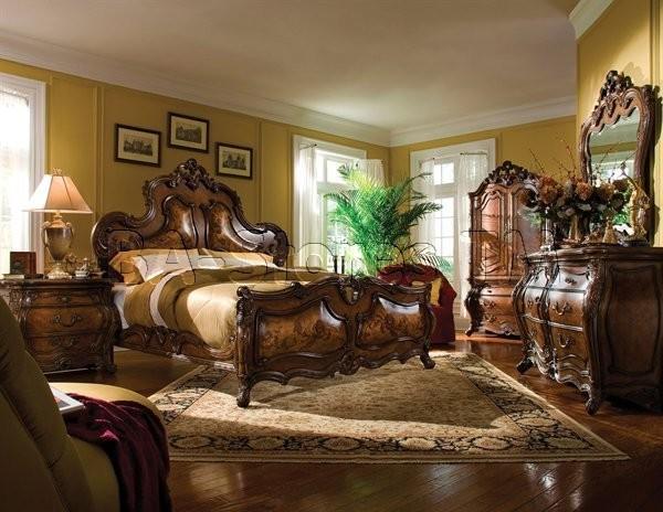 Michael Amini Bedroom Set In Rococo Cognac Palais