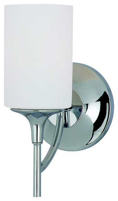 Transitional Chrome Wall Sconces : Sea Gull Lighting 44952-05 Stirling Chrome Wall Sconce transitional-wall-sconces