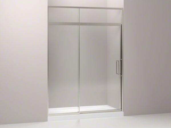 """KOHLER Lattis(R) pivot shower door with sliding steam transom, 89-1/2"""" H x 57 - contemporary-showers"""
