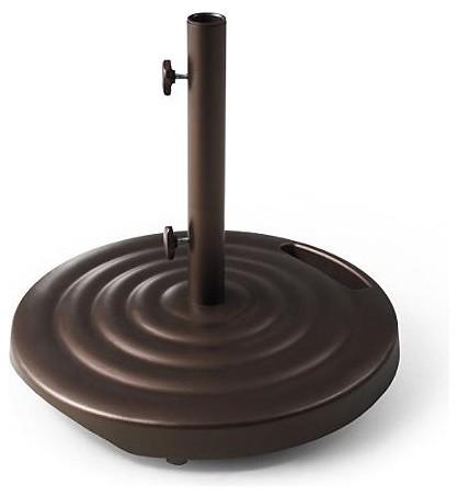 100 lb. Round Ribbed Wheeled Base for 7-1/2' to 10' Patio Umbrellas traditional-outdoor-umbrellas