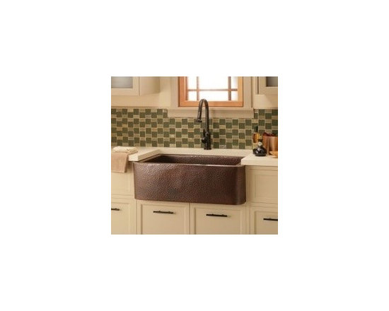 "Maestro Bajo In Antique - Maestro Bajo In Antique - Native Trails brings you the Maestro Bajo Vessel sink to add charm and elegance to your bath space. The Antique copper finish highlights the craftsmanship of the hand hammering and the Brushed Nickel finish brings a lustre to the copper that is artful and functional. Width: 16 1/4"" Height: 4 3/4"" Finish	: Antique Copper"