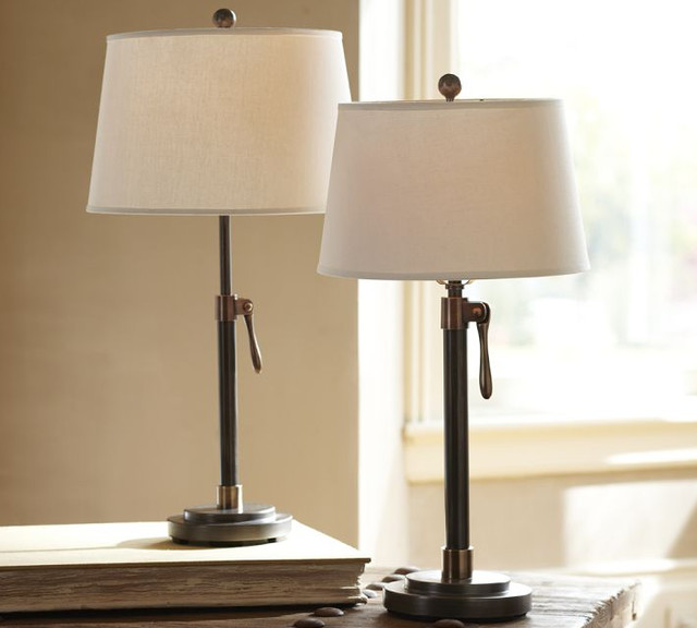 Sutter Adjustable Lever Lamp Base - traditional - table lamps - by