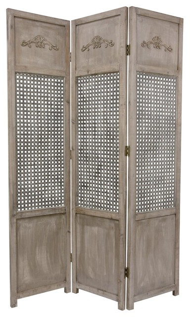 6 Ft Tall Solid Frame Fabric Room Divider 4 Panels: 6 Ft. Tall Open Mesh Room Divider