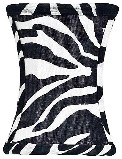 Themed Zebra Print Hourglass Shade 3.75x3.75x5 (Clip-On) eclectic-lamp-shades