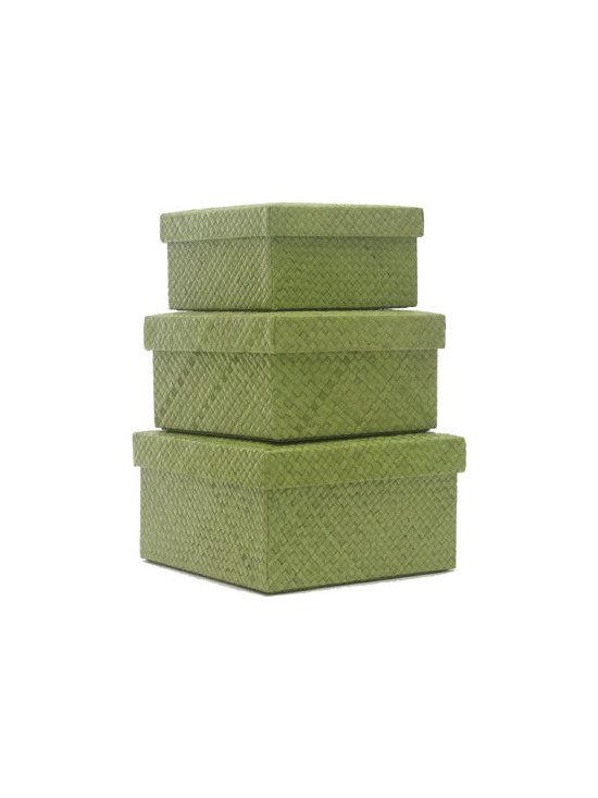 Closet - Baskets, Bins & Boxes: Pandan Storage Boxes by Neatnix -