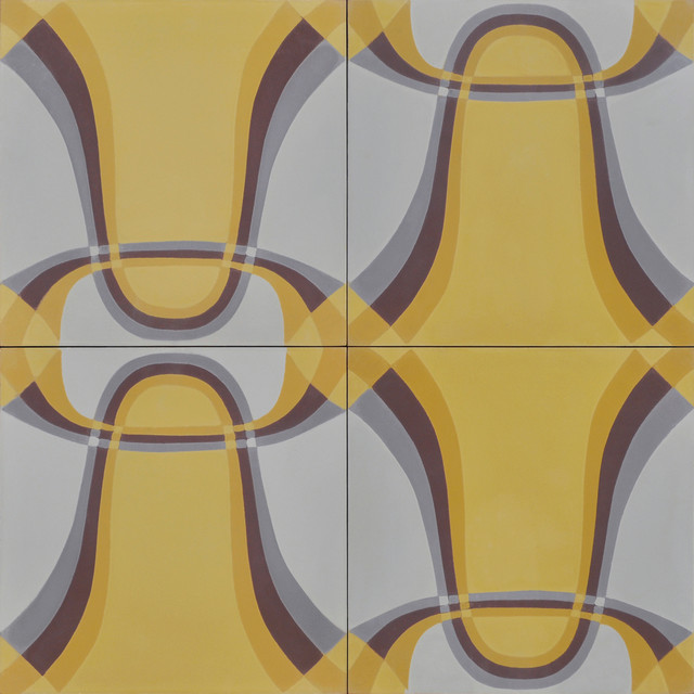 THETA in Amber/Pewter contemporary-floor-tiles