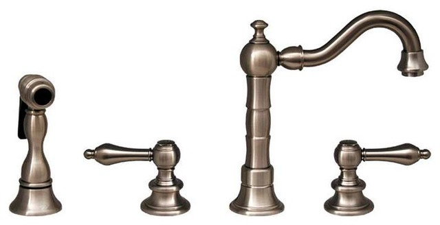 WHVEGCR3 886 BN Brushed Nickel Wdspd Faucet Rustic