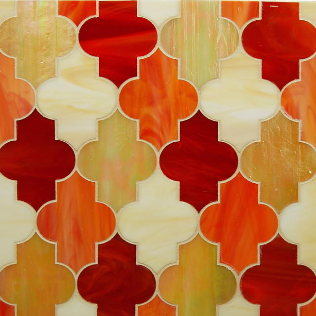 Glass mosaic eclectic-tile