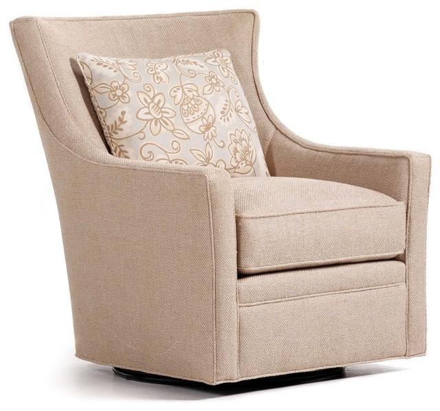 Delta Swivel Chair Adell Linen Fabric Transitional
