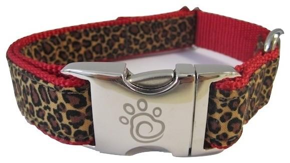 Designer Fabric Dog Collar - The Zoo, Small contemporary-pet-supplies