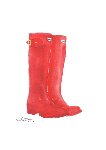 Hunter Boots Painting contemporary-artwork