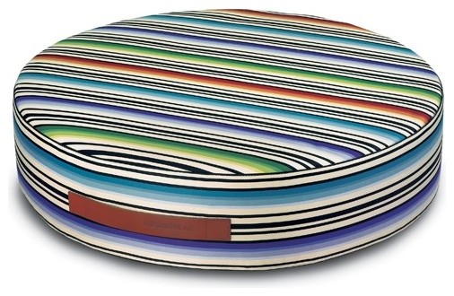 Missoni Home | Janisey Vivid Round Floor Cushion modern-footstools-and-ottomans