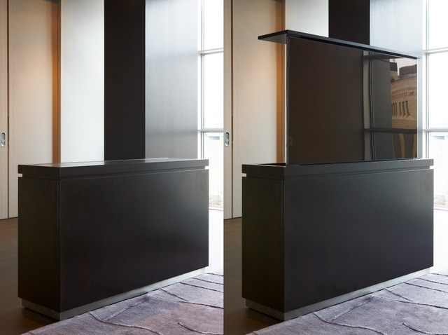 Modern TV Lift Cabinet - Modern - Entertainment Centers And Tv Stands - new york - by Aguirre Design