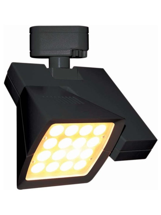 "WAC - WAC Logos 36 Degree Black 38W LED Track Head for Juno - Logos track head for use with Juno track systems. Black finish. 36 degree beam spread. Includes 38 watt LED. Light output is 3080 lumens. 2700K color temperature. CRI is 85. Average bulb life is 100000 hours when used 3 hours a day. Dimmable down to 10 percent with ELV dimmer. ENERGY STAR® rated. Low voltage. 9 1/4"" high. 8 1/4"" wide.  Logos track head for use with Juno track systems.  Black finish.  36 degree beam spread.  Includes 38 watt LED.  Light output is 3080 lumens.  2700K color temperature.  CRI is 85.  Average bulb life is 100000 hours when used 3 hours a day.  Dimmable down to 10 percent with ELV dimmer.  ENERGY STAR® rated.  Low voltage.  9 1/4"" high.  8 1/4"" wide."