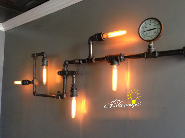 LOFT Water Pipe Edison Wall sconce - contemporary - wall sconces ...