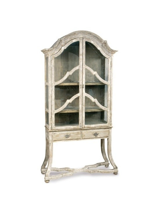 Shabby Chic Living - Bliss Studio Dutch Cabinet with glass doors and drawers.