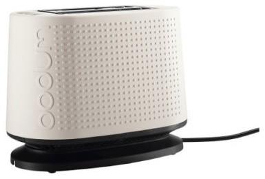 Bodum Bistro 10709-913 2 Slice Toaster - Off White modern-toasters