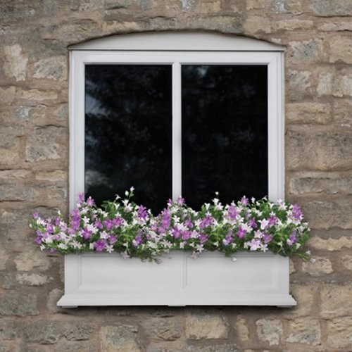 Mayne 60-Inch Rectangle Polyethylene Fairfield Window Box traditional-outdoor-pots-and-planters
