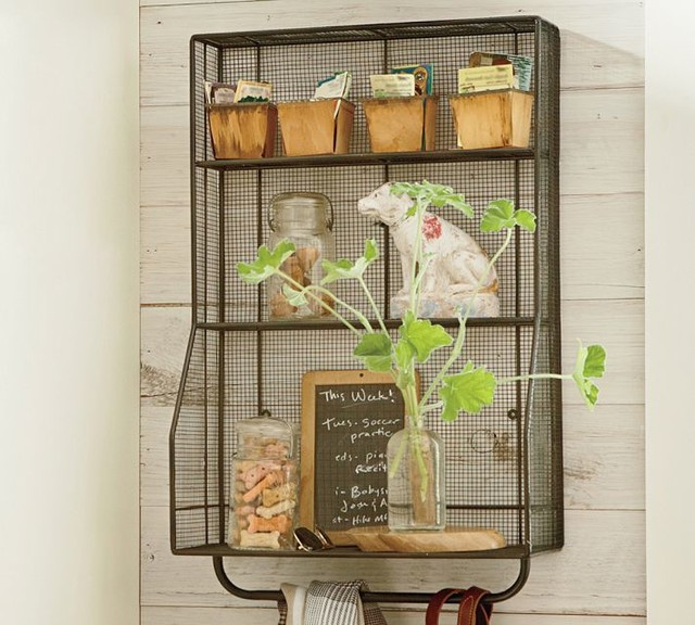 Kellan Wall-Mount Storage Organizer - Industrial - Display And Wall Shelves - by Pottery Barn
