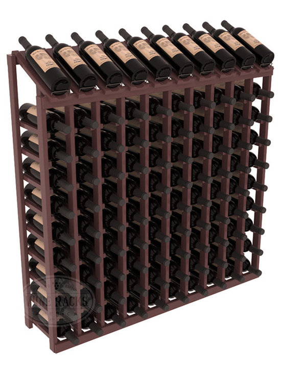 Wine Racks America - 100 Bottle Display Top Wine Rack, Walnut Stain + Satin Finish - Make your top 10 vintages focal points of your cellar or store. Our wine cellar kits are constructed to industry-leading standards. You'll be satisfied. We guarantee it. Display top wine racks offer ample storage below a presentation row. Great as a stand alone unit or paired with other modular racks from our product lineup.