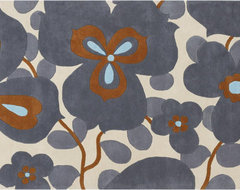 Amy Butler Hand-Tufted Ivory Floral New Zealand Wool Rug contemporary rugs