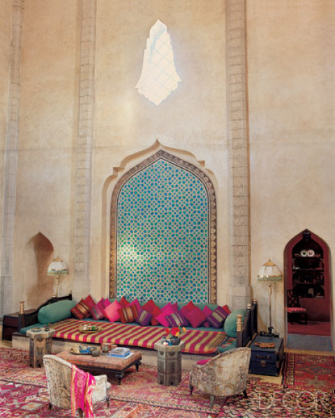 Moroccan living room decorating - Moroccan living room design ...