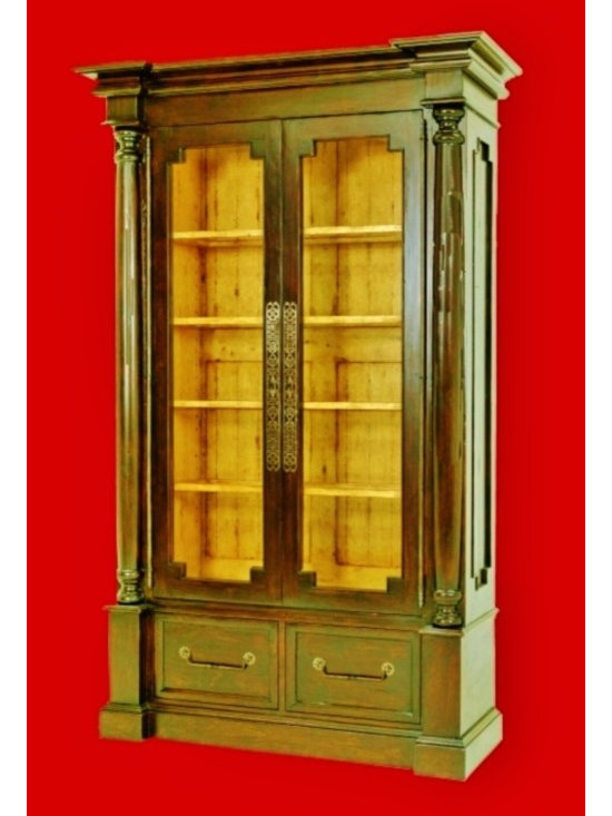 Cool Stuff - COLLECTORS DISPLAY CABINET BY BAUSMAN  -WITH TWO EXTERIOR DRAWERS