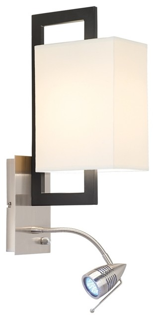 Possini Euro Floating Rectangle LED Plug-In Wall Light transitional-wall-sconces