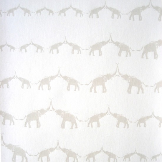 Jill Malek Baby Elephant Walk Wallpaper contemporary-wallpaperElephant Design Wallpaper