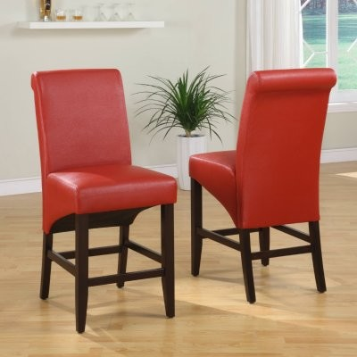 Cosmo Sleigh Back Stool - Ruby - Set of 2 modern-bar-stools-and-counter-stools
