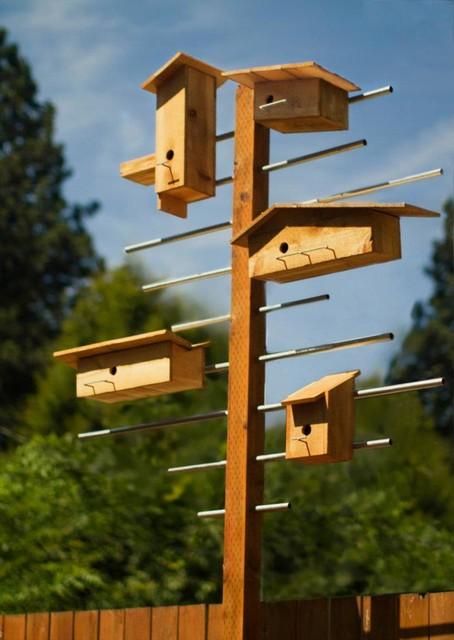 Charity Bird Houses Modern Birdhouses Portland By