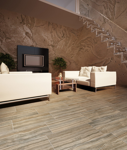 Marble or Porcelain? contemporary-floor-tiles