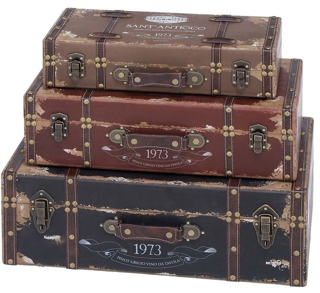 Trunk with Light Gray Background and Soft Looks - Set of 3 traditional-bathroom-lighting-and-vanity-lighting