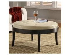 Round Upholstered table bench. furniture