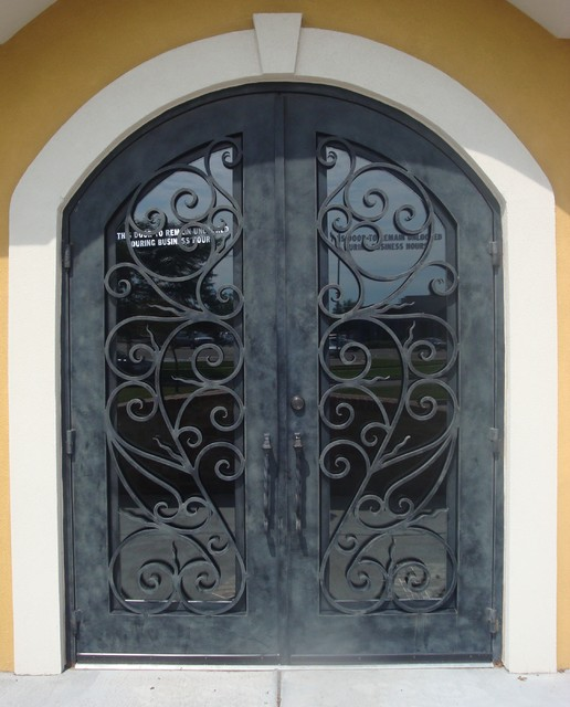 Forge Iron Designs Wrought Iron Doors mediterranean front doors