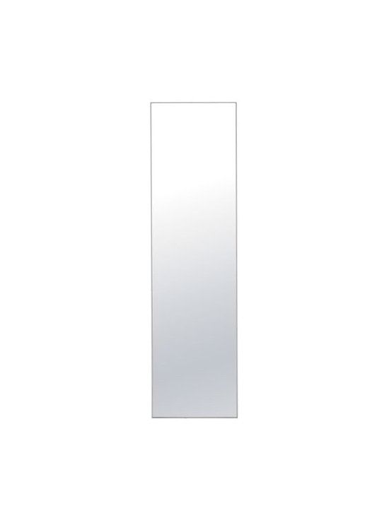 Design Within Reach - Mondrain Mirror, 22x80 - What do you want a mirror to do for you? Define a space, bring more light into a room, reflect the real you? Whatever it is, the Mondrian Collection is a comprehensive system of mirrors suited to meet every need. Designed to proportionally play off one another, each of the five sizes in the collection have a lightweight extruded aluminum frame that offers a quiet presence and won't compete with other furnishings. A metal cleat hanging system allows for vertical or horizontal placement, and the polished edges and Masonite® backing complete the quality construction. A suitable size to use over a vanity, in an entryway or as a full-length dressing mirror. May be hung vertically or horizontally, or leaned against a wall. Mix and match sizes to fit your space. This contract-quality Mirror can be used in damp areas.