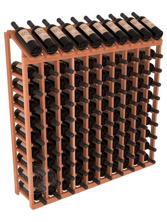Wine Racks America - 100 Bottle Display Top Wine Rack in Redwood - Make your top 10 vintages focal points of your cellar or store. Our wine cellar kits are constructed to industry-leading standards. You'll be satisfied. We guarantee it. Display top wine racks offer ample storage below a presentation row. Great as a stand alone unit or paired with other modular racks from our product lineup.