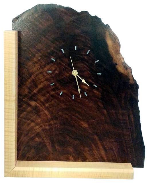 ... Inlay - Rustic - Desk And Mantel Clocks - by Triangle Custom Creations