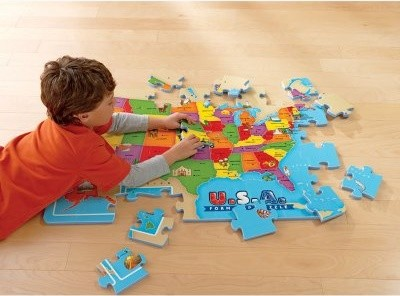 Educational Insights USA Foam Map Puzzle modern-toy-organizers