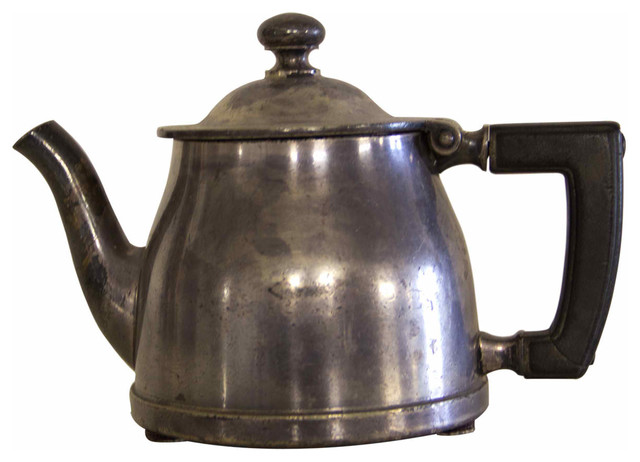 Mini Teapot w/ Black Leather Handle - Contemporary ...