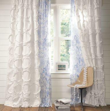 Ruffle Rings Drape | PBteen curtains