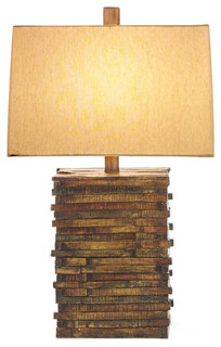 StyleCraft Natural Wood Table Lamp - Eclectic - Table ...