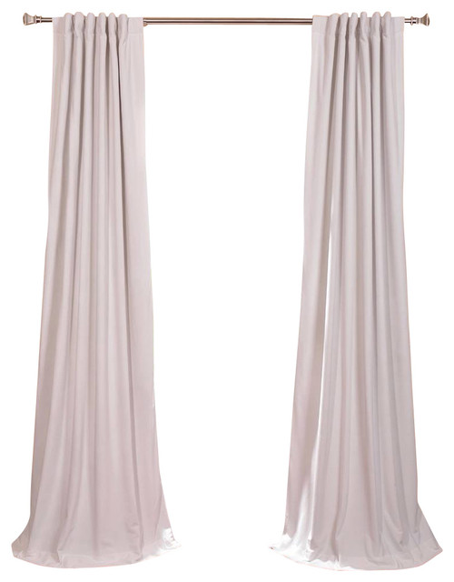Signature Off White Blackout Velvet Curtain traditional-curtains