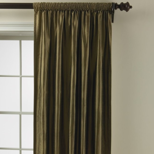 Hanging Rod Pocket Curtains With Rings