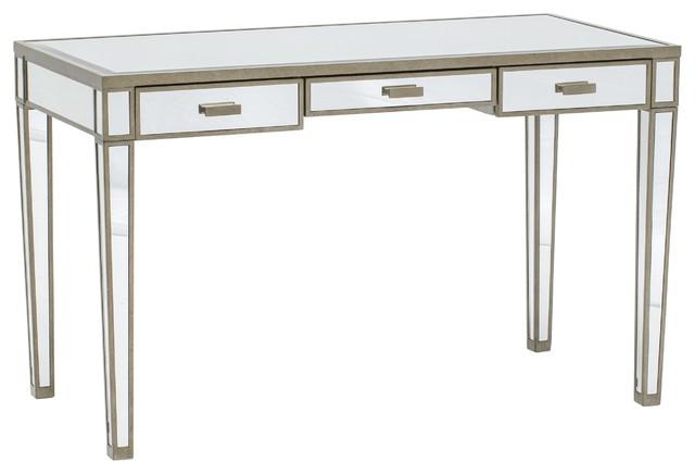 Vivien Mirror Desk Antique Silver Desks And Hutches