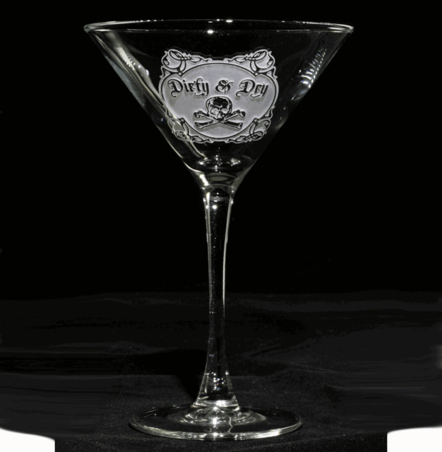 Dirty and Dry Martini Cocktail Glass Set of 4 - Eclectic - by Crystal ...