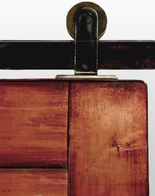 Top mounted barn door hardware modern barn door for Top mount barn door hardware