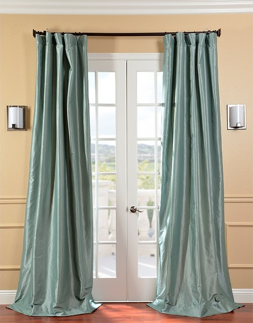 Privacy Curtains For Home Faux Silk Plaid Curtains
