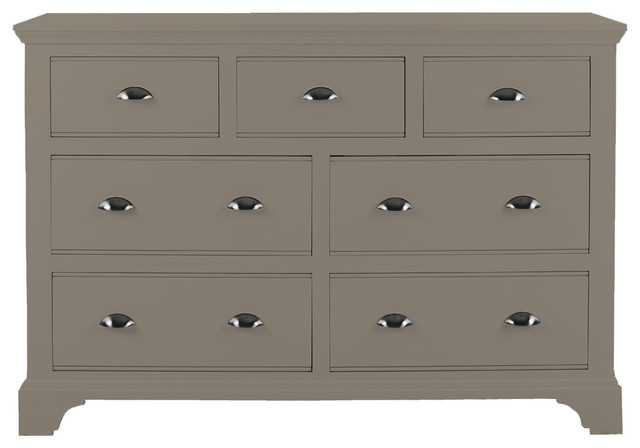 Downton Bedroom Furniture Chest 4 3 Drawers In Urban Grey