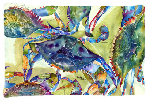 Crab All Over Fabric Standard Pillowcase Moisture Wicking Material beach-style-pillowcases-and-shams